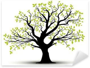 Sticker Pixerstick Vector set - arbre décoratif et feuilles vertes