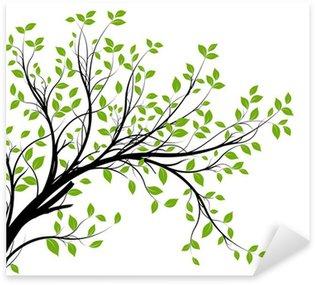 Pixerstick Sticker Vector set - groene decoratieve tak en bladeren