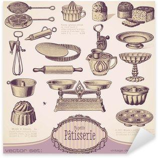 Sticker - Pixerstick vector set: Patisserie - vintage baking design elements