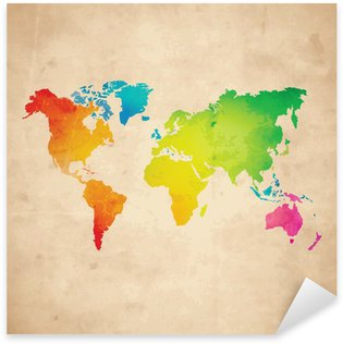 Vector world map wall mural pixers we live to change vector world map pixerstick sticker gumiabroncs Images