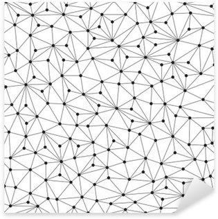 Pixerstick Sticker Veelhoekige achtergrond, naadloze patroon, lijnen en cirkels