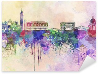 Pixerstick for All Surfaces Venice skyline in watercolor background