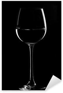 Sticker Pixerstick Verres à vin noirs