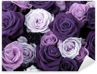 Pixerstick Sticker Verschillende kleuren van rozen
