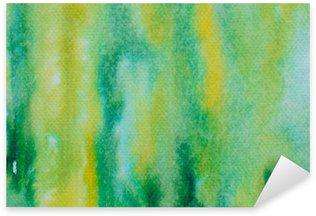 Sticker Pixerstick Vert aquarelle peinte fond