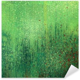 Sticker Pixerstick Vert peinture acrylique fond la texture du papier