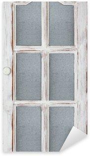 Sticker Pixerstick Vieille porte blanc
