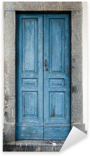 Sticker Pixerstick Vieille porte bleue