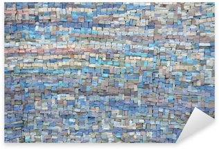 Sticker Pixerstick Vieux bleu et lilas mosaïque texture