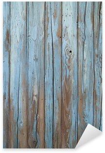 Sticker Pixerstick Vieux mur de bois bleu