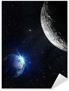 Sticker - Pixerstick view from moon - sunrise of earth