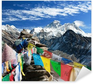 view of everest from gokyo ri with prayer flags - Nepal Sticker - Pixerstick