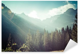 Sticker - Pixerstick View of Tatra Mountains from hiking trail. Poland. Europe.