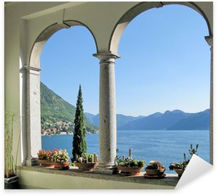 View to the lake Como from villa Monastero. Italy Sticker - Pixerstick