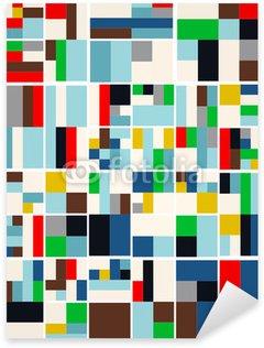 Sticker - Pixerstick Vintage Hipster Geometric Pattern In Tetris Style Vector