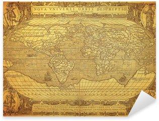 vintage map of the world 1602.. Sticker - Pixerstick