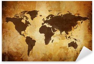 Sticker Pixerstick Vintage map