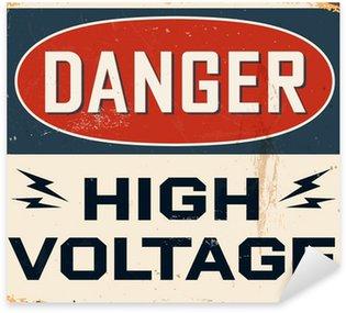 Sticker Pixerstick Vintage métal Sign - Vector - effets grunge peut être retiré
