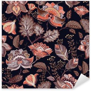 Pixerstick Sticker Vintage naadloze patroon. Bloemen achtergrond in Provençaalse stijl.