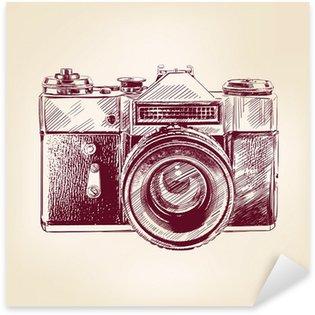 vintage old photo camera vector llustration Sticker - Pixerstick
