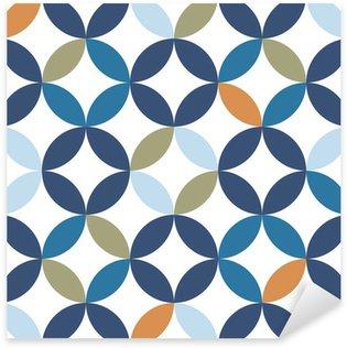 Sticker Pixerstick Vintage seamless pattern
