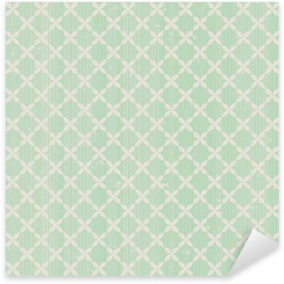 Sticker Pixerstick Vintage seamless pattern