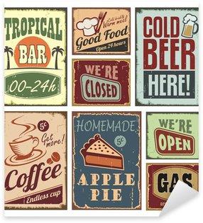 Sticker Pixerstick Vintage style signs