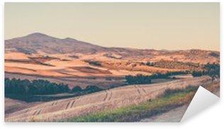 Vintage tuscan landscape Sticker - Pixerstick