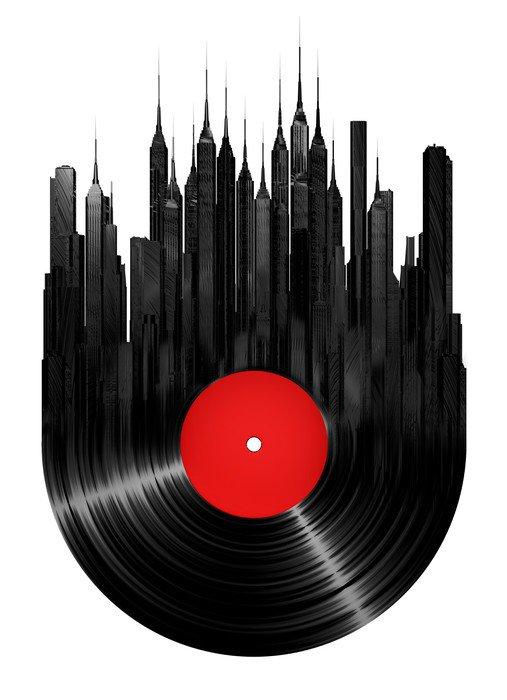Sticker - Pixerstick Vinyl city - Wall decals