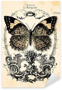 Pixerstick Sticker Vlinderachtergrond