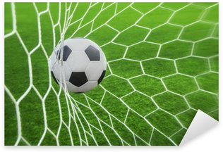 Pixerstick Sticker Voetbal bal in doel
