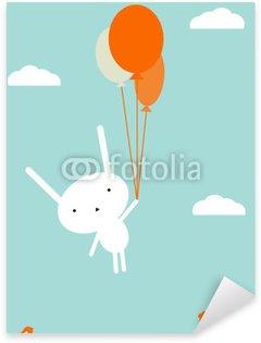 Sticker Pixerstick Vol en montgolfière