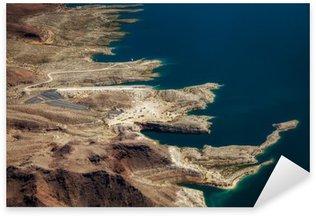 Sticker Pixerstick Vue aérienne du lac Mead