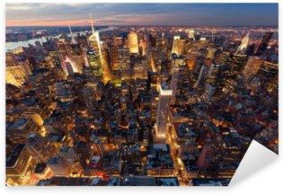 Sticker Pixerstick Vue de Manhattan à vol d'oiseau