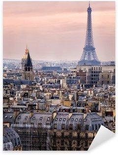 Sticker Pixerstick Vue de Paris et de la Tour Eiffel d'en haut