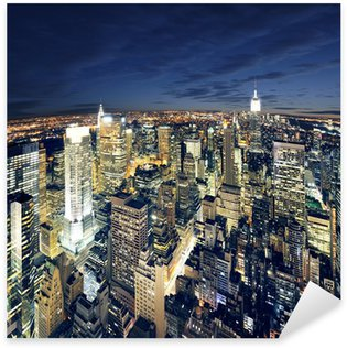Sticker Pixerstick Vue magnifique sur New York Manhattan - newyork ville