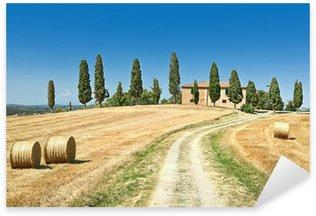 Sticker Pixerstick Vue panoramique du paysage typique Toscane