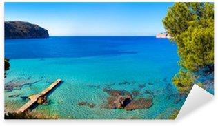 Sticker Pixerstick Vue sur la mer idyllique à Majorque
