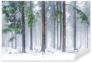 Sticker - Pixerstick Wald im Winter