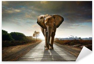 Sticker Pixerstick Walking Elephant