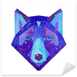 Sticker - Pixerstick Watercolor cosmic animals. Hand drawn illustration