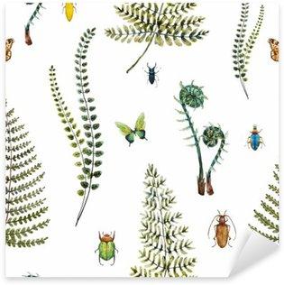 Sticker - Pixerstick Watercolor fern pattern