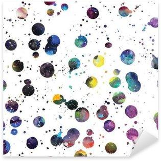 Watercolor galaxy background. Sticker - Pixerstick