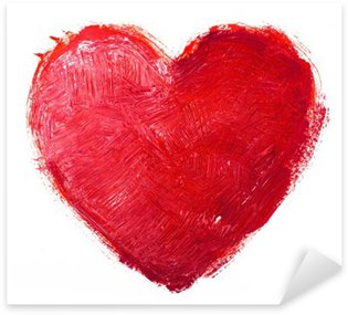 Sticker - Pixerstick watercolor heart. Concept - love, relationship, art, painting