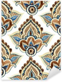 Watercolor indian ornament Sticker - Pixerstick