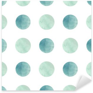 Watercolor texture. Seamless pattern. Watercolor circles in pastel colors on white background. Pastel colors and romantic delicate design. Polka Dot Pattern. Fresh and Mint Colors. Sticker - Pixerstick