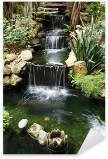 waterfall with pond Sticker - Pixerstick