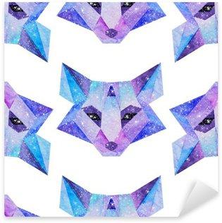 Pixerstick Sticker Waterverf het kosmische dieren. Hand getrokken illustratie