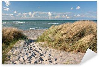 Sticker Pixerstick Weg zum Strand durch Dünen an der Ostsee bei Heiligenhafen