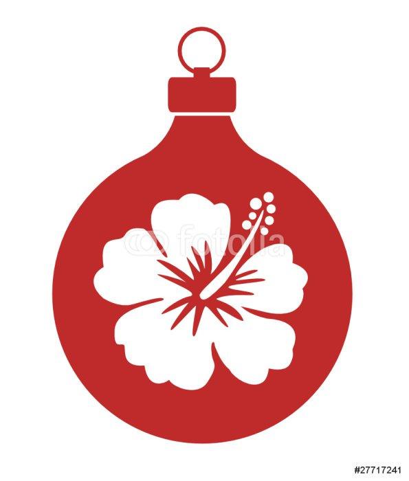 Sticker - Pixerstick Weihnachtskugel_ Hawaii - International Celebrations